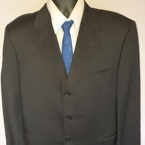 Canali Black Suit Jacket blazer Wool 42R